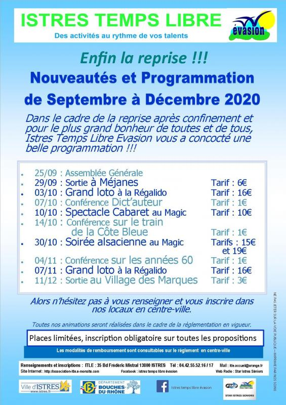 Programmation sept a dec 2020